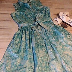Talbots blue floral dress